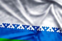 Nenets de het Autonome District kleurrijke golven en illustratie van de close-upvlag royalty-vrije illustratie