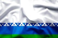 Nenets de het Autonome District kleurrijke golven en illustratie van de close-upvlag vector illustratie