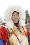 """Nenets en pastores en la península de Yamal, Tarko-venta del reno del día del festival nacional """", el 28 de marzo de 2015 Imagenes de archivo"""