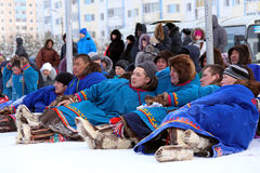 Nenets during the holiday Stock Photos