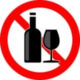 Nenhum álcool ilustração royalty free