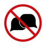 Nenhum ícone de fala, sinal falador Vetor ilustração royalty free