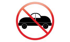Nenhum ícone do carro - nenhum estacionamento Van Symbol - nenhum veículo de viagem - nenhum ícone do carro de motor do estaciona fotografia de stock royalty free