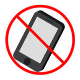 Nenhum ícone do telefone de mobil Foto de Stock Royalty Free