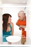 Nenhum alimento no refrigerador Imagem de Stock Royalty Free