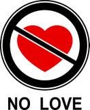 Nenhum amor! Imagem de Stock Royalty Free
