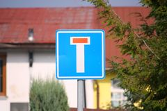 Nenhum - através da estrada (sem saída) Imagem de Stock Royalty Free