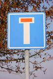 Nenhum - através da estrada (sem saída) Fotografia de Stock