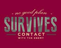 Nenhum bom plano sobrevive ao contato com o inimigo ilustração do vetor
