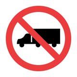 Nenhum caminhão assina no fundo branco ilustração stock