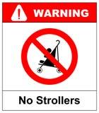 Nenhum carrinhos de criança ou pushchair, ilustração ilustração stock