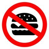 Nenhum coma o sinal do vetor do hamburguer ilustração royalty free
