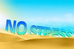 Nenhum conceito do texto do esforço na praia Fotos de Stock