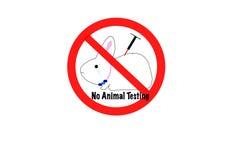 Nenhum conceito dos testes animais Imagens de Stock Royalty Free