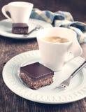 Nenhum-coza quadrados do chocolate. imagem de stock
