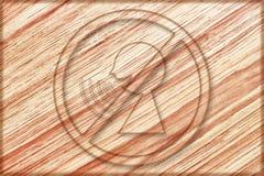 nenhum discurso do sinal demasiado alto na placa de madeira ilustração do vetor