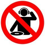 Nenhum DJ divide o sinal de aviso ilustração do vetor
