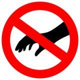 Nenhum do toque sinal do vetor da segurança por favor Fotografia de Stock Royalty Free