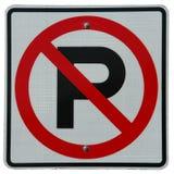 Nenhum estacionamento Fotos de Stock Royalty Free