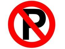 Nenhum estacionamento ilustração royalty free