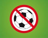 Nenhum futebol Ilustração do Vetor