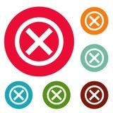 Nenhum grupo do círculo dos ícones do sinal Foto de Stock Royalty Free