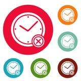 Nenhum grupo do círculo dos ícones do tempo Imagem de Stock Royalty Free