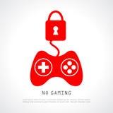 Nenhum jogo ilustração stock