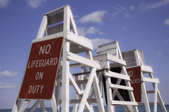 Nenhum Lifeguard no dever Foto de Stock Royalty Free