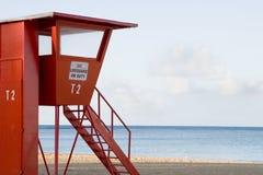 Nenhum lifeguard no dever fotografia de stock