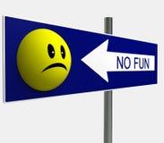 Nenhum painel do divertimento do smiley Imagem de Stock Royalty Free
