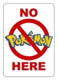 Nenhum Pokemon aqui assina ilustração royalty free