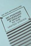 Nenhum porte postal necessário Foto de Stock