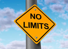Nenhum positivo potencial ilimitado infinito dos limites Imagem de Stock Royalty Free
