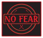 Nenhum preto do selo do medo ilustração do vetor
