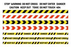 Nenhum proibido da proteção de informação da segurança do perigo do vetor da produção da indústria de sinais da proibição fita de ilustração do vetor