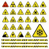 Nenhum proibido da proteção de informação da segurança do perigo do vetor da produção da indústria de sinais da proibição símbolo ilustração stock