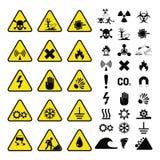 Nenhum proibido da proteção de informação da segurança do perigo do vetor da produção da indústria de sinais da proibição símbolo ilustração royalty free