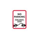 Nenhum roadsign da zona de estacionamento isolado Imagem de Stock Royalty Free