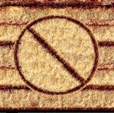 Nenhum símbolo do bolo Fotografia de Stock