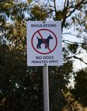 Nenhum signage dos cães foto de stock royalty free