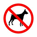 Nenhum sinal animal Sinal proibido para nenhuns cães Fotos de Stock Royalty Free