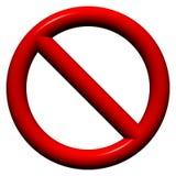 Nenhum sinal da admissão imagem de stock royalty free