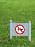 Nenhum sinal da bicicleta Fotos de Stock Royalty Free