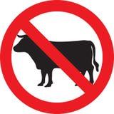 Nenhum sinal da carne ilustração do vetor