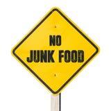 Nenhum sinal da comida lixo Foto de Stock