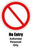 Nenhum sinal da entrada Imagem de Stock Royalty Free
