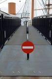 Nenhum sinal da entrada para pedestres Fotografia de Stock Royalty Free