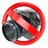 Nenhum sinal da fotografia Proibição da câmera da foto Imagens de Stock Royalty Free