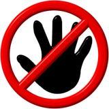 Nenhum sinal da mão Imagem de Stock